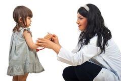 женщина девушки доктора маленькая Стоковое Изображение