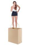 Женщина делая знак безмолвия Стоковая Фотография RF