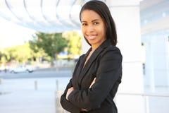 женщина дела афроамериканца милая стоковое изображение rf