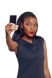 Женщина дела афроамериканца Стоковое Изображение RF