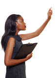 Женщина дела афроамериканца Стоковые Фото