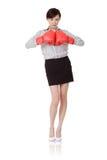 женщина дела бокса стоковые фотографии rf