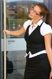 Женщина дела в городе стоковое фото rf