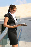 Женщина дела в городе Стоковое Фото