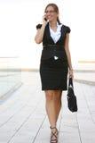 Женщина дела в городе стоковая фотография rf
