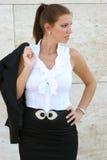 Женщина дела в городе стоковое изображение rf