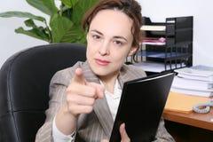 женщина дела гневная Стоковое фото RF