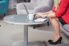 Женщина дела используя компьтер-книжку Стоковое фото RF