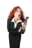 женщина дела красотки гнева Стоковые Изображения RF