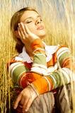 женщина дела напольная Стоковое Фото