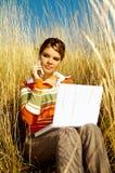женщина дела напольная Стоковые Фотографии RF