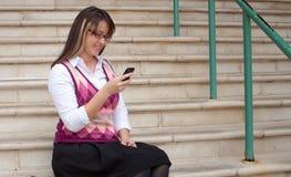 Женщина дела на сотовом телефоне Стоковое Фото