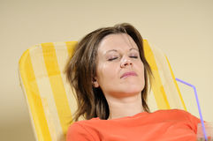 женщина дела ослабляя Стоковое фото RF