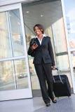 женщина дела перемещая стоковая фотография