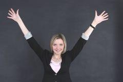 женщина дела радостная стоковое фото