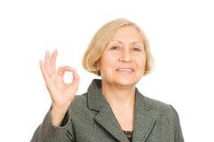 женщина дела старшая сь стоковые фотографии rf