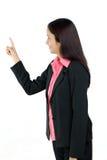 Женщина дела указывая вне Стоковые Фото
