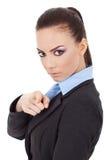 Женщина дела указывая на вас Стоковые Изображения RF