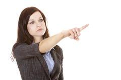 женщина дела указывая Стоковые Изображения RF