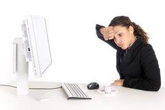 женщина дела утомленная Стоковые Фото