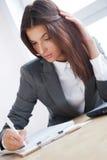 женщина дела утомленная стоковое изображение rf