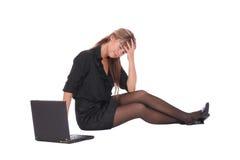 женщина дела утомленная Стоковые Изображения RF