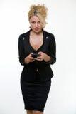 женщина дела texting стоковое фото