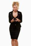 женщина дела texting стоковые изображения rf