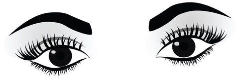 женщина детальных глаз высокая Стоковые Фото