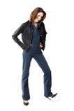 женщина джинсыов Стоковые Изображения