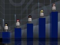 женщина диаграммы демографическая Стоковое Фото