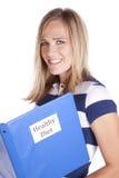женщина диетпитания счастливая здоровая Стоковое Фото