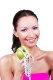 женщина диетпитания счастливая Стоковое фото RF