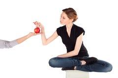 женщина диетпитания тонкая Стоковая Фотография RF