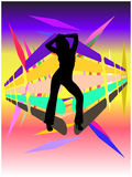 женщина диско в стиле фанк Стоковое Изображение