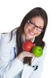 женщина доктора счастливая Стоковые Изображения RF