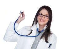 женщина доктора счастливая Стоковое Изображение