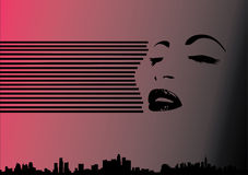 женщина духа города Стоковое Изображение