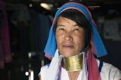 Женщина Длинн-шеи, Мьянма Стоковое Изображение