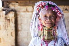 Женщина Длинн-шеи, Мьянма Стоковая Фотография RF