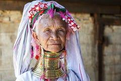 Женщина Длинн-шеи, Мьянма Стоковое Фото