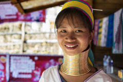 Женщина Длинн-шеи, Мьянма Стоковая Фотография