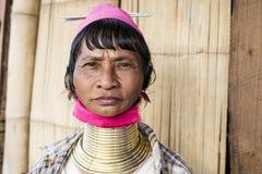 Женщина Длинн-шеи, Мьянма Стоковые Изображения RF