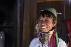 Женщина Длинн-шеи, Мьянма Стоковые Изображения