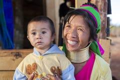 Женщина Длинн-шеи, Мьянма Стоковое Изображение RF