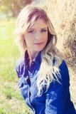 Женщина девушки естественного чистого портрета красивая белокурая Стоковые Фото