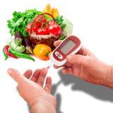 Женщина делает испытывая высокий уровень сахара в крови. Стоковое фото RF