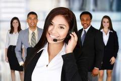 Женщина делая обслуживание клиента Стоковые Изображения