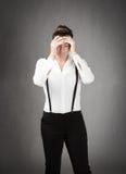 женщина дела отчаянная Стоковое фото RF