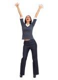 женщина дела счастливая Стоковое Изображение RF